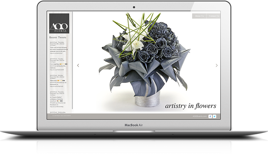 AOO Floral Website Design