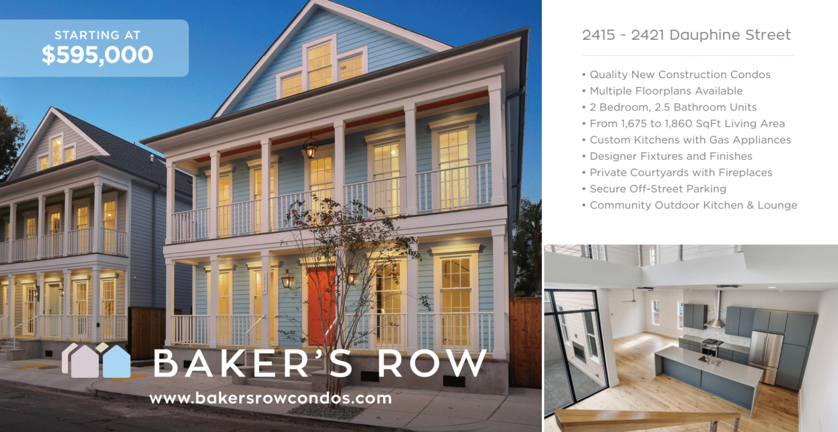 Ryan Wentworth Bakers Row Logo and postcard design