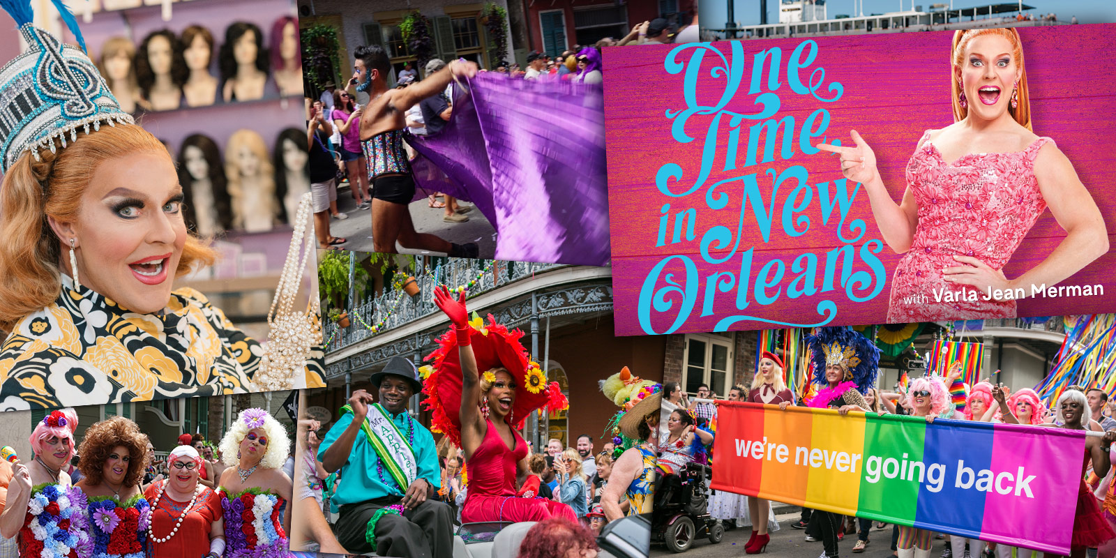 Highlights from Communify's video marketing content showcasing Varla Jean Merman, a Gay Mardi Gras krewe, and LGBT influencers