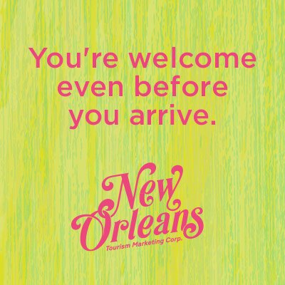 New Orleans Tourism Marketing Corp. welcome message aimed at LGBTQ visitors