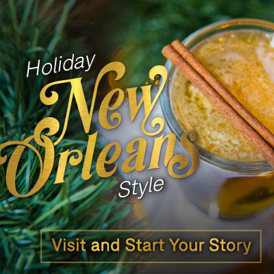 holiday banners designed for New Orleans Tourism