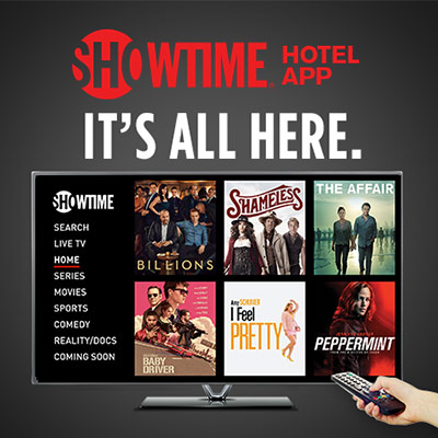 HTML web banner developed for Showtime