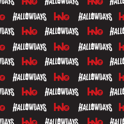 Repeating background of HNO's Hallowdays event logo