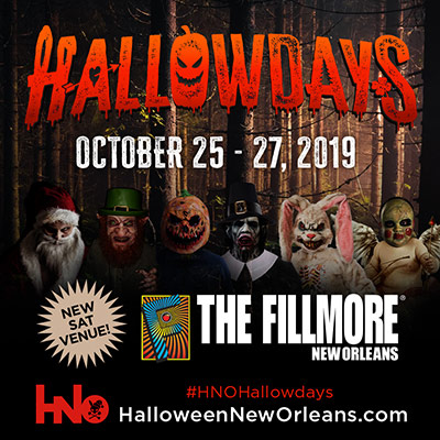 logo designed for Halloween New Orleans used for an event poster