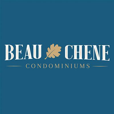sleek new logo designed for Beau Chene Condominiums