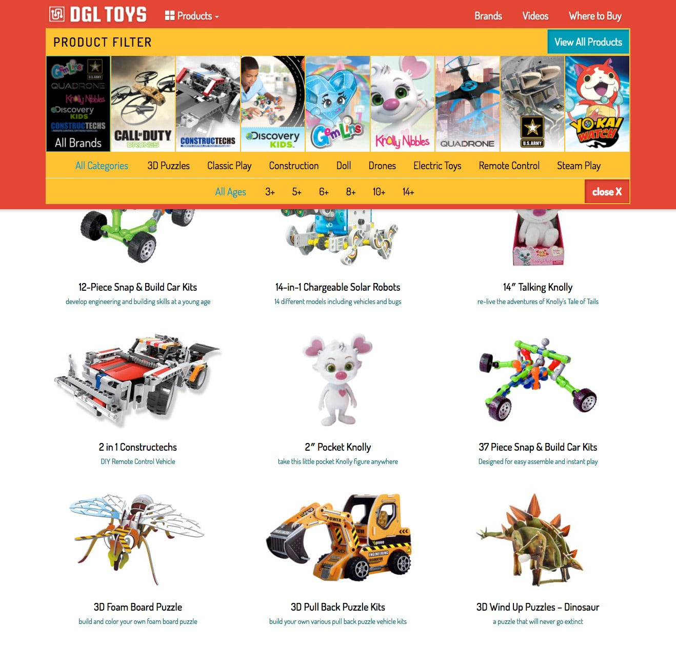 Toy Company Website