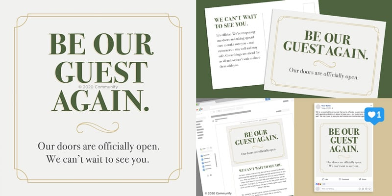Back in Business Marketing Packages - Be Our Guest