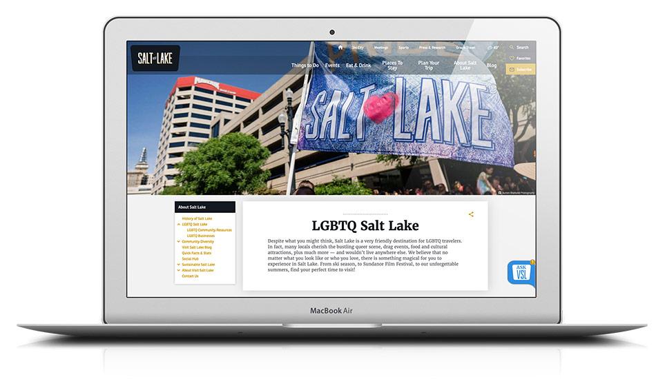 Visit Salt Lake - LGBTQ website updates